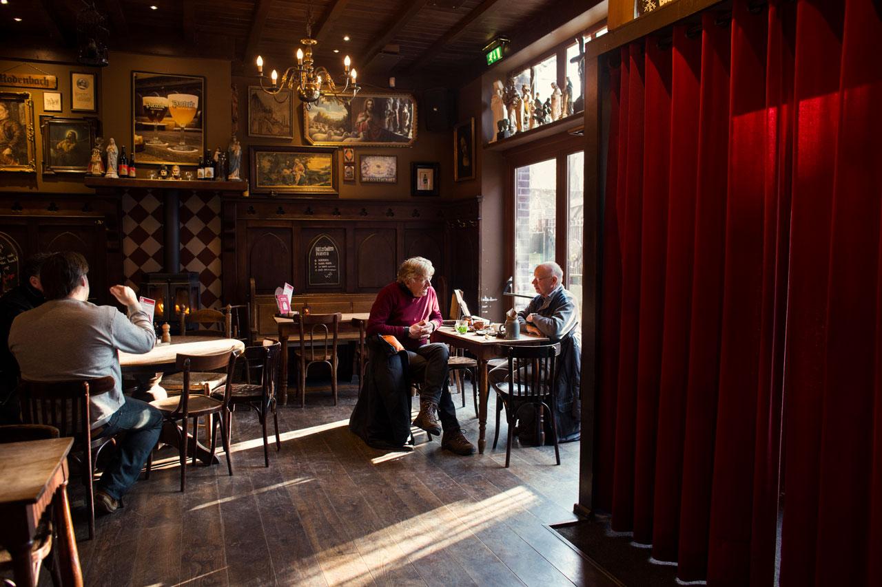Café de Klep: gezellig interieur.
