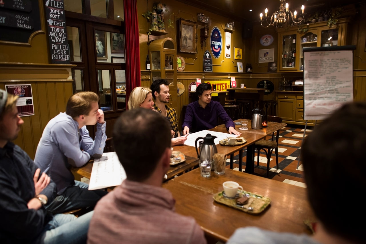 Café de Klep: ruimte voor groepen.